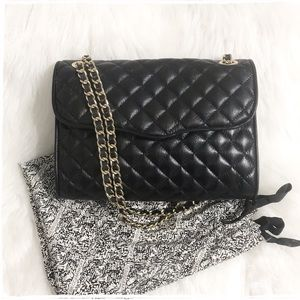 Rebecca Minkoff LARGE Quilted Affair - Black Gold